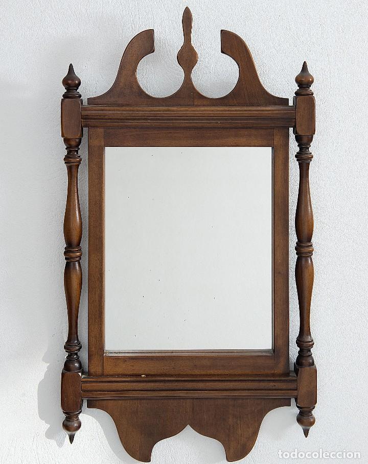 espejo enmarcado madera - medidas 93*52cm - Comprar Espejos Antiguos ...