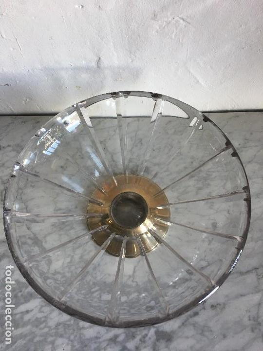 Antigüedades: ANTIGUO FRUTERO DE CRISTAL CON LA BASE DE PLATA - Foto 4 - 121856995