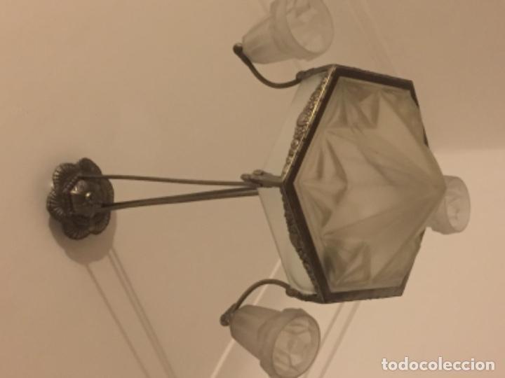 Antigüedades: Lámpara antigua Art Deco 1930 firmada - Foto 2 - 121858051