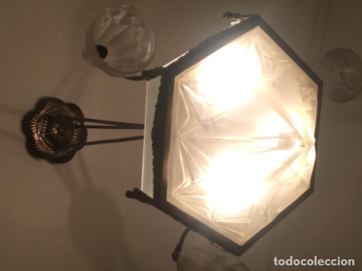 Antigüedades: Lámpara antigua Art Deco 1930 firmada - Foto 3 - 121858051