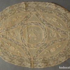 Antigüedades: ANTIGUO TAPETE DE ENCAJE DE NORMANDÍA PRINCIPIO. S.XX. Lote 123401956