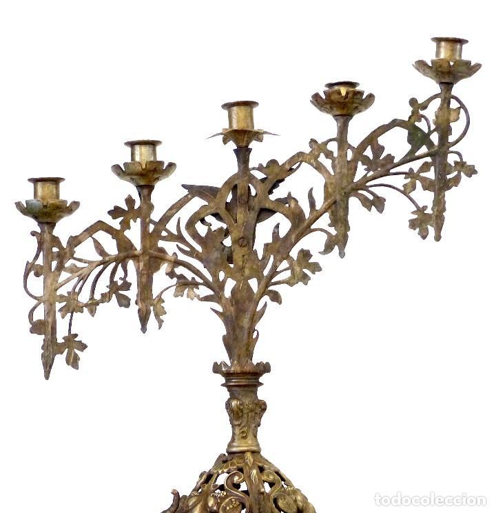 Antigüedades: Candelabro del Siglo XIX - Foto 3 - 154602221