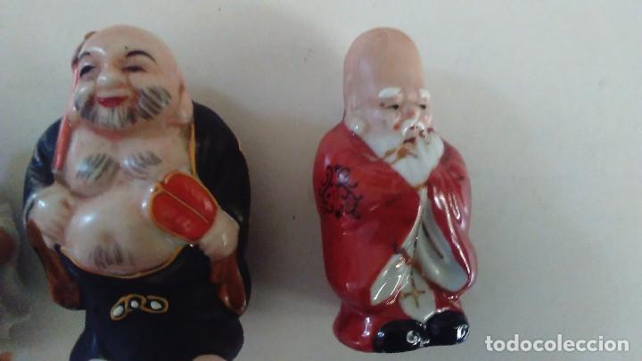 Antigüedades: Conjunto de cuatro figuras chinas de porcelana - Foto 5 - 121862311
