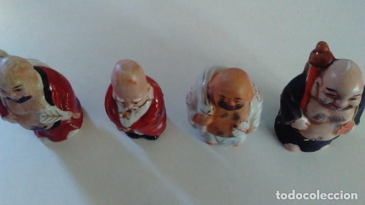 Antigüedades: Conjunto de cuatro figuras chinas de porcelana - Foto 10 - 121862311