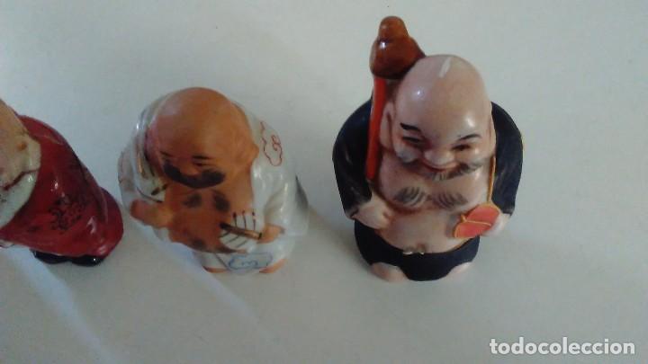 Antigüedades: Conjunto de cuatro figuras chinas de porcelana - Foto 11 - 121862311