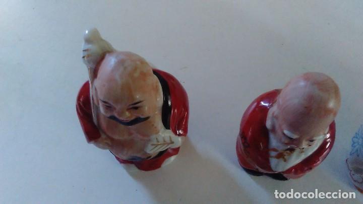 Antigüedades: Conjunto de cuatro figuras chinas de porcelana - Foto 13 - 121862311