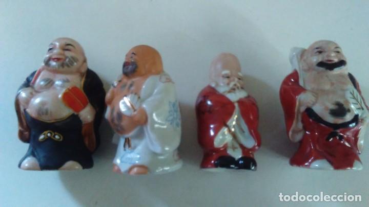 Antigüedades: Conjunto de cuatro figuras chinas de porcelana - Foto 18 - 121862311
