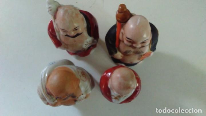 Antigüedades: Conjunto de cuatro figuras chinas de porcelana - Foto 23 - 121862311