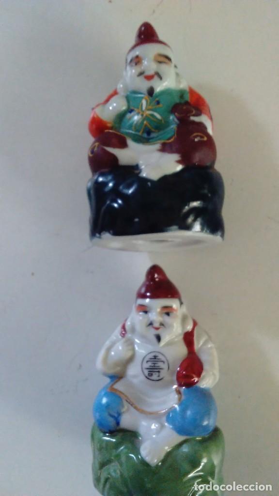 Antigüedades: Pareja de figuras chinas de porcelana - Foto 2 - 121862907