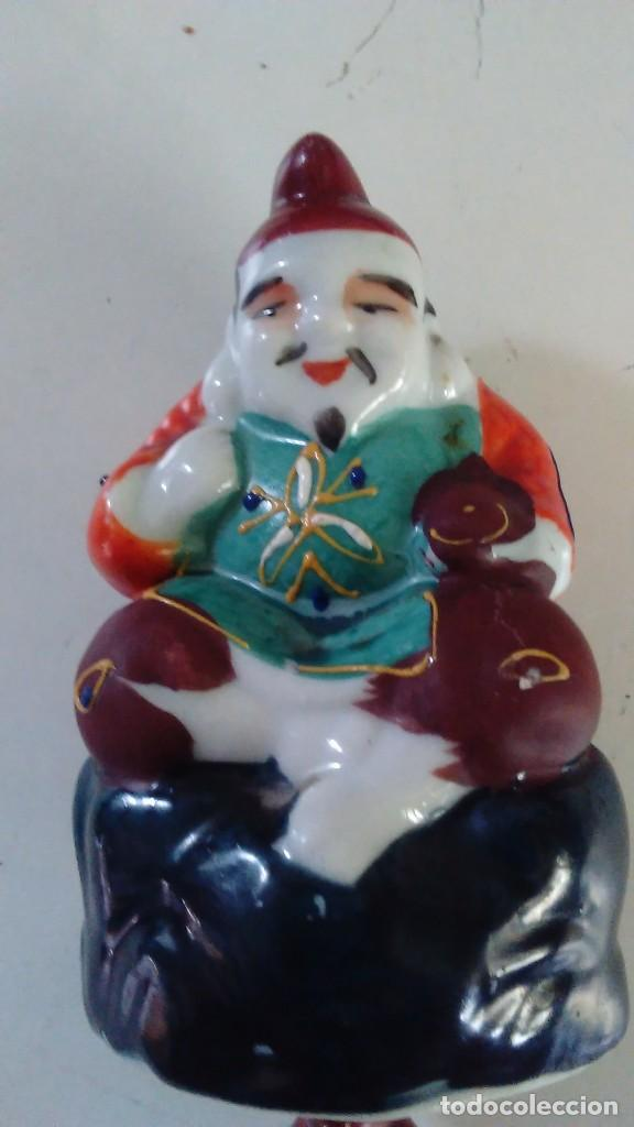 Antigüedades: Pareja de figuras chinas de porcelana - Foto 3 - 121862907