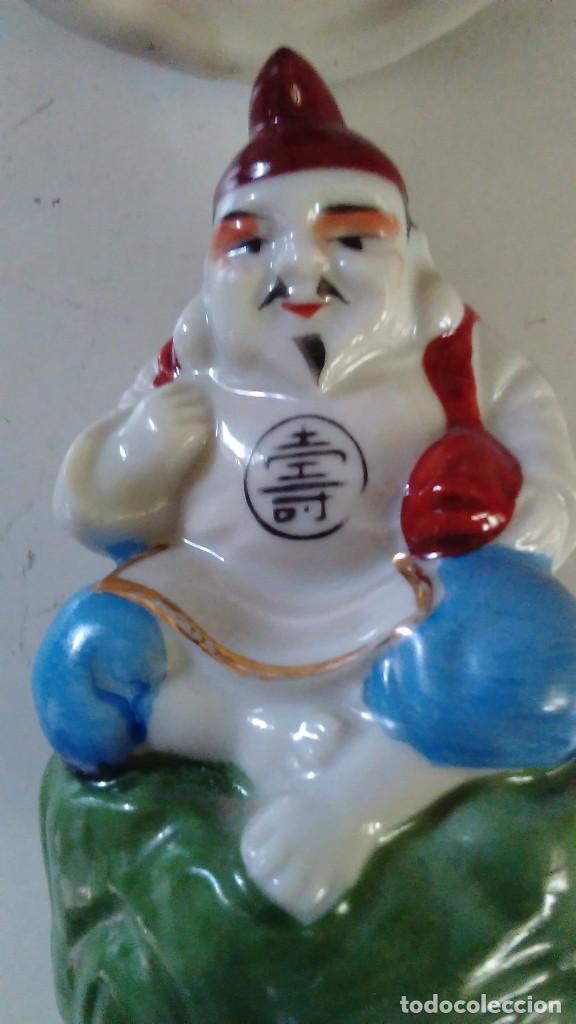 Antigüedades: Pareja de figuras chinas de porcelana - Foto 4 - 121862907