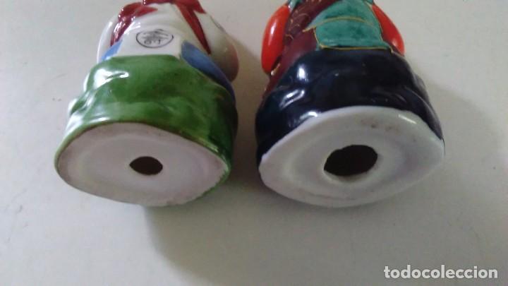 Antigüedades: Pareja de figuras chinas de porcelana - Foto 6 - 121862907