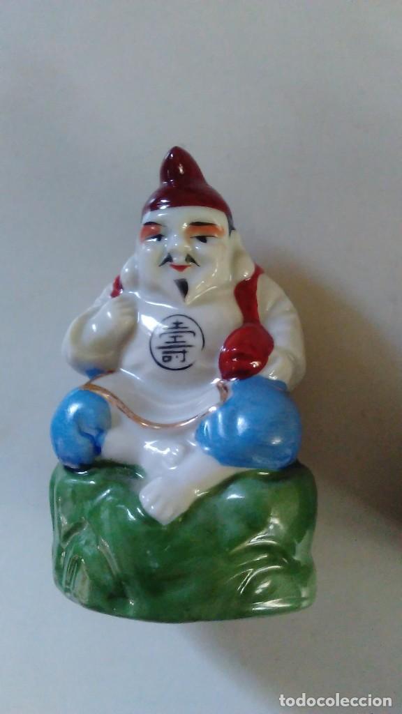 Antigüedades: Pareja de figuras chinas de porcelana - Foto 12 - 121862907