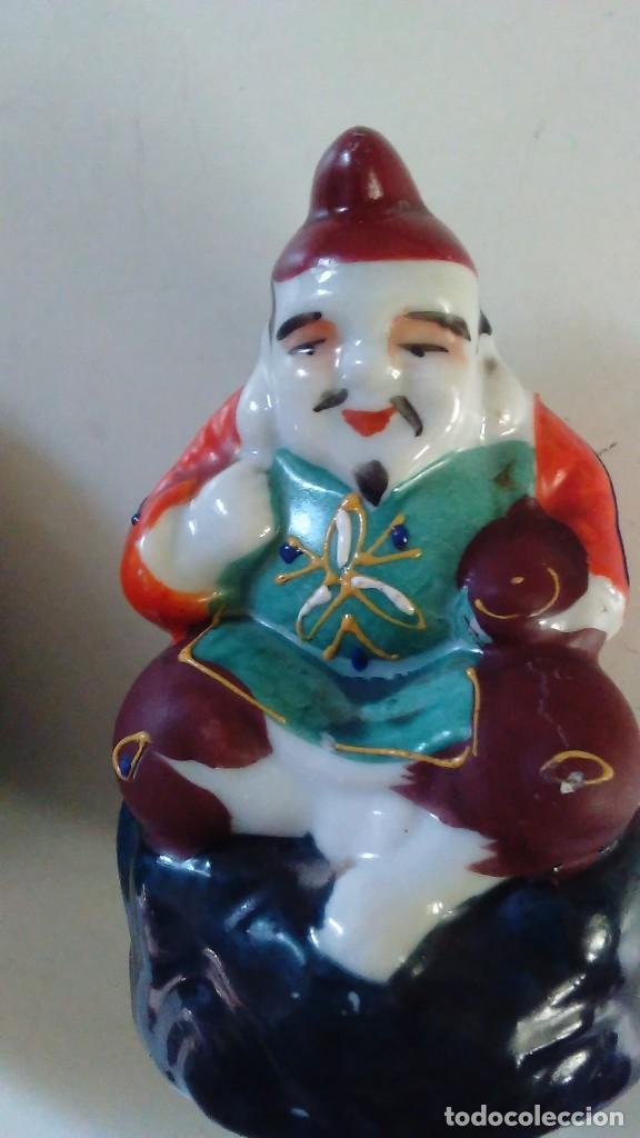 Antigüedades: Pareja de figuras chinas de porcelana - Foto 13 - 121862907