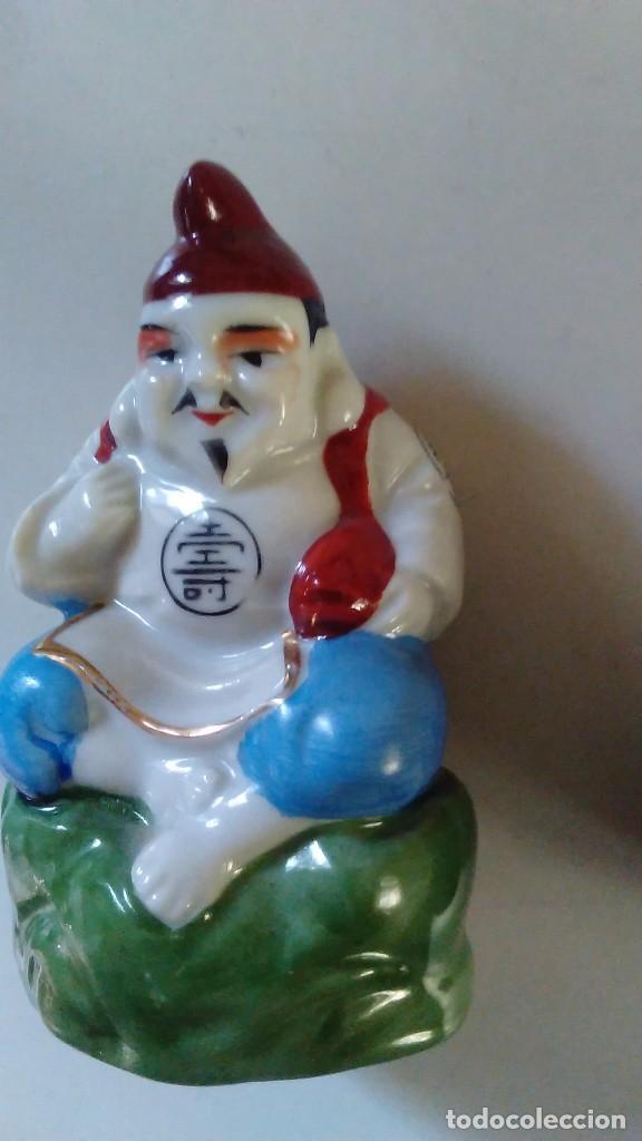 Antigüedades: Pareja de figuras chinas de porcelana - Foto 14 - 121862907