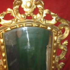 Antigüedades: ANTIGUO MARCO ESPEJO EN PAN DE ORO FINO. Lote 121877143