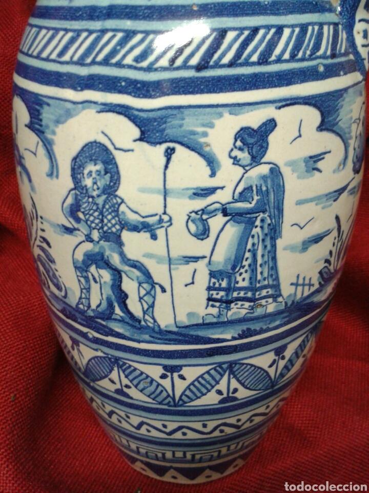 Antigüedades: ANTIGUO JARRON EN CERAMICA ESMALTADA TRIANA - Foto 4 - 121878092