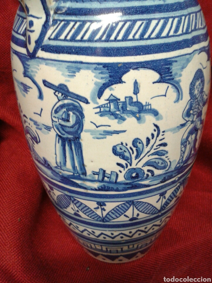Antigüedades: ANTIGUO JARRON EN CERAMICA ESMALTADA TRIANA - Foto 5 - 121878092