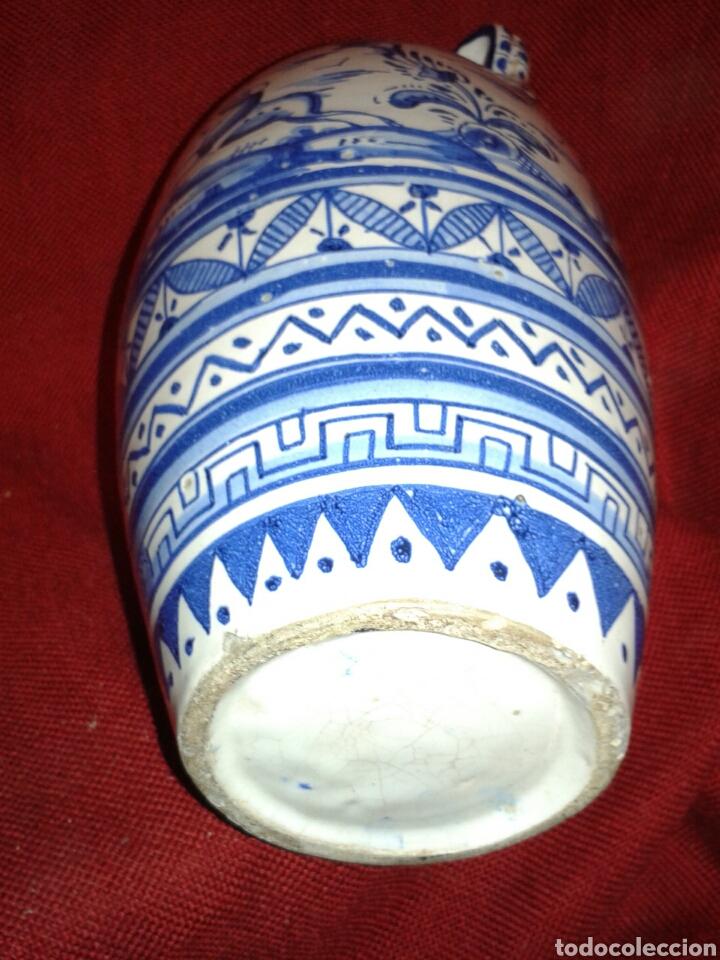 Antigüedades: ANTIGUO JARRON EN CERAMICA ESMALTADA TRIANA - Foto 10 - 121878092