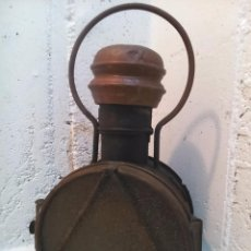 Antigüedades: ANTIGUO FAROL DE LOCOMOTORA DEL FERROCARRIL ESPAÑOL, TREN, - MIDE 50 X 28 X 24 CMS APROX.. TOTALMENT. Lote 121890047