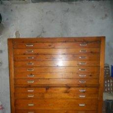 Antigüedades: CAJONERA INDUSTRIAL MUEBLE FERMENTACION DE PANADERIA. Lote 121894471