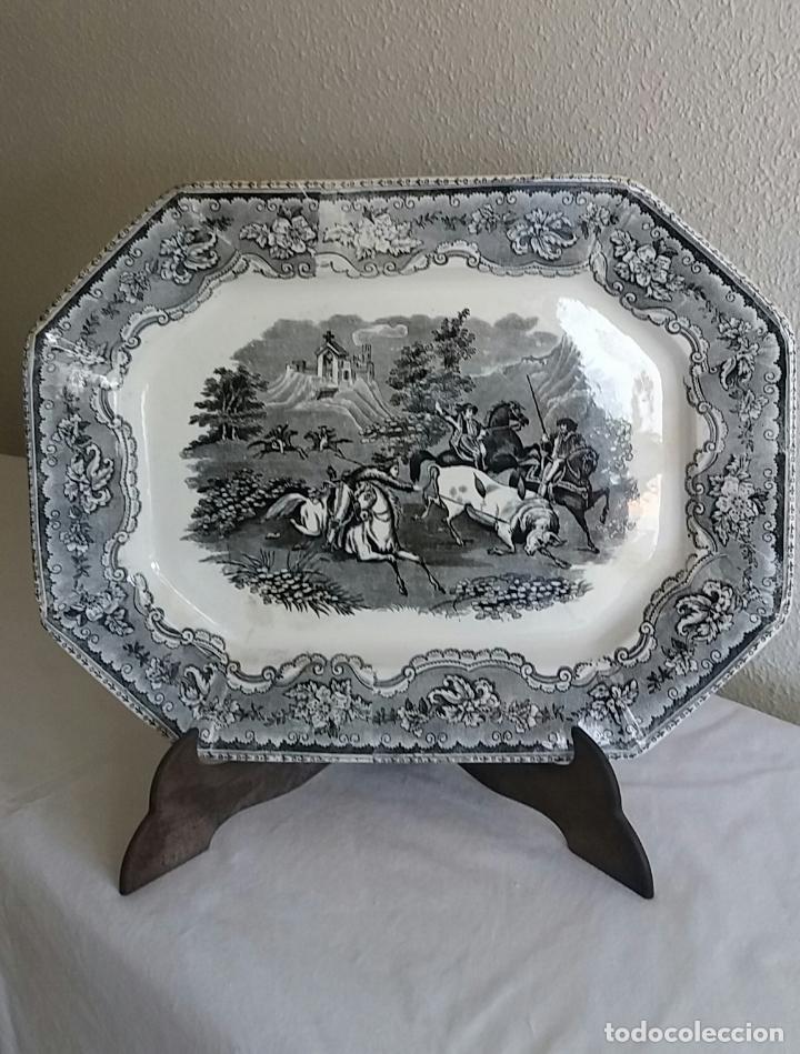 BANDEJA DE CARTAGENA OCHAVADA,S . XIX . (Antigüedades - Porcelanas y Cerámicas - Cartagena)