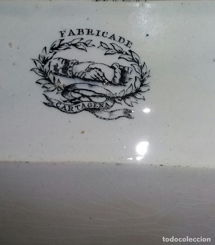 Antigüedades: Bandeja de Cartagena ochavada,S . XIX . - Foto 6 - 121895771