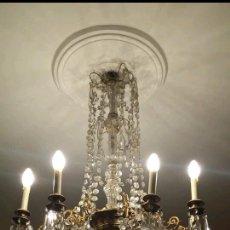 Antigüedades: LAMPARA DE CRISTAL DE BOHEMIA. Lote 121897619