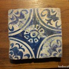 Antigüedades: AZULEJO GOTICO VALENCIANO SIGLO XV. Lote 121913511