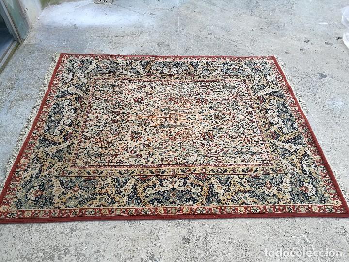 Antigüedades: Gran alfombra de motivos florales semi-antigua - Foto 2 - 121924807