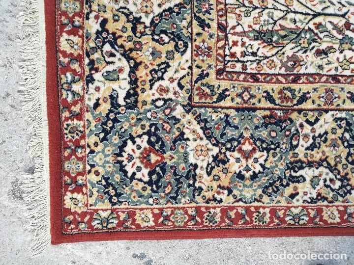 Antigüedades: Gran alfombra de motivos florales semi-antigua - Foto 4 - 121924807
