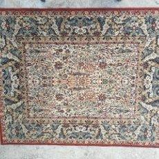 Antiques - Gran alfombra de motivos florales semi-antigua - 121924807
