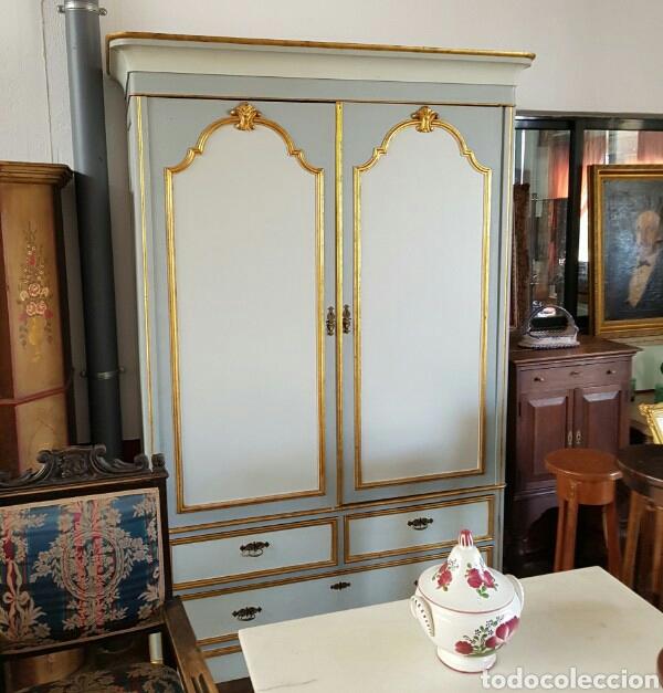 PRECIOSO ARMARIO GRAN DIMENSION PINTADO Y EN UN EXCELENTE ESTADO (Antigüedades - Muebles Antiguos - Armarios Antiguos)