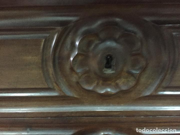 Antigüedades: Sifonier Isabelino de caoba i palma de caoba - Foto 2 - 121942103