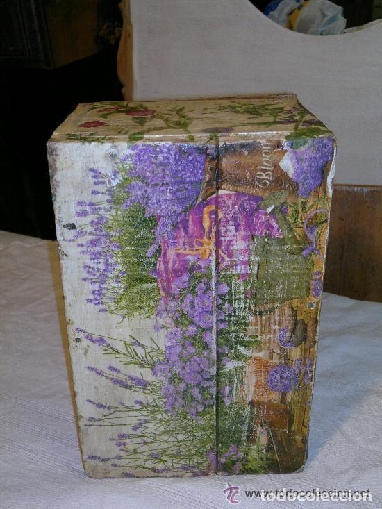 Antigüedades: antigua caja de madera decorada con diversos motivos. Muy graciosa - Foto 5 - 121977383