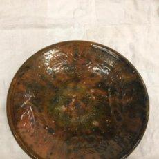 Antigüedades: PLATO EN CERAMICA POPULAR MALLORQUINA S.XIX. Lote 121994687