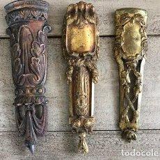 Antigüedades: 3 / FRENCH BRONZE / PEDIMENTS, ORMOLU GILT / FURNITURE MOUNTS, ANTIQUE ORNATE HARDWARE, . Lote 122047963