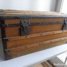 Antigüedades: MUY ANTIGUO (PRINCIPIOS 1900), BONITO E IMPORTANTE BAUL, TOTALMENTE COMPLETO Y EN BUEN ESTADO. Lote 122061795
