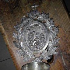 Antigüedades: PILA BENDITERA EN PLATAPRINCIPIOS DEL SIGLO 19 -CA1. Lote 122081412