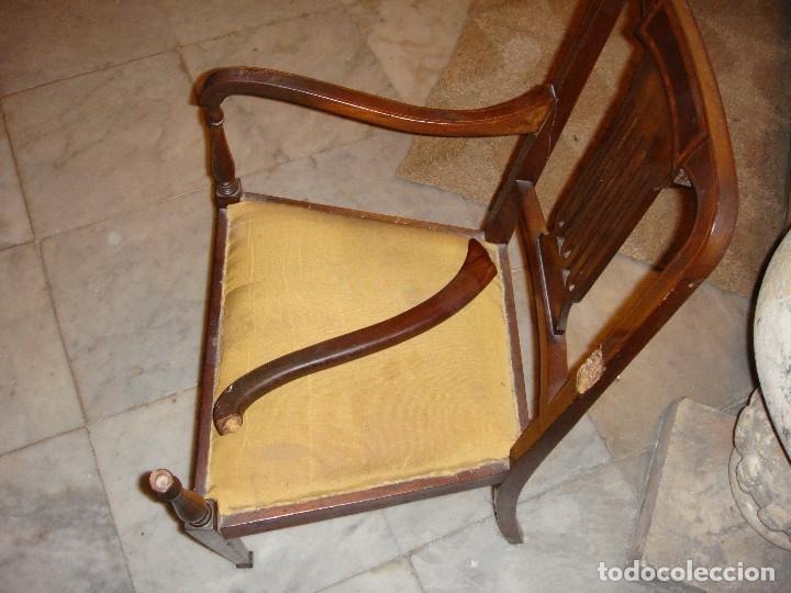 Antigüedades: Magnifico Estrado de 2 plazas con sillones a juego. S.XIX. Caoba con marquetería. - Foto 4 - 122087163