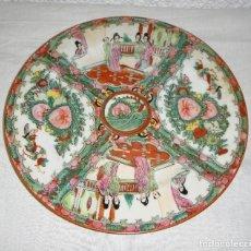 Antigüedades: PLATO DE PORCELANA CHINA. S.XIX. PINTADO A MANO. CON SELLO EN LA BASE.. Lote 122138267