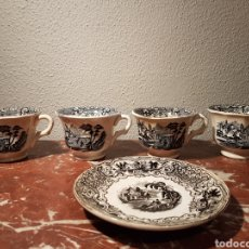 Antigüedades: TAZAS DE CAFÉ PICKMAN SERIE NEGRO. Lote 122143876