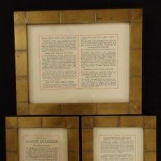 Antigüedades: ANTIGUAS SACRAS REALIZADAS EN METAL DORADO, MADERA Y CRISTAL 26 X 21 CM.. Lote 122149067