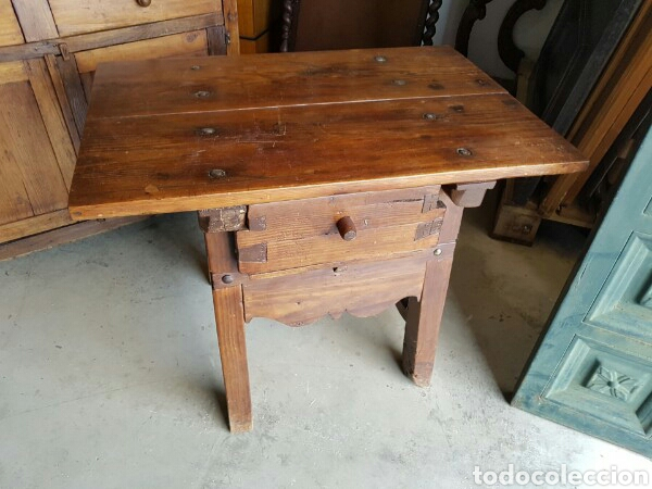 antigua mesa tocinera madera maciza restaurada - Comprar Mesas ...