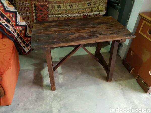 mesa antigua madera maciza tipoca cocina tocinera matancera estado original