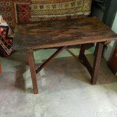 Antiquitäten - mesa antigua madera maciza tipoca cocina tocinera matancera estado original - 122157044