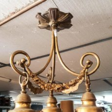 Antigüedades: LAMPARA MODERNISTA 3 LUCES. Lote 122162103