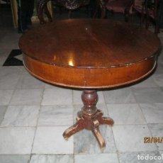 Antigüedades: BONITA MESA REDONDA VELADOR. PARTE DE ARRIBA EN CAOBA SIGLO XLX MUE-007. Lote 122172811
