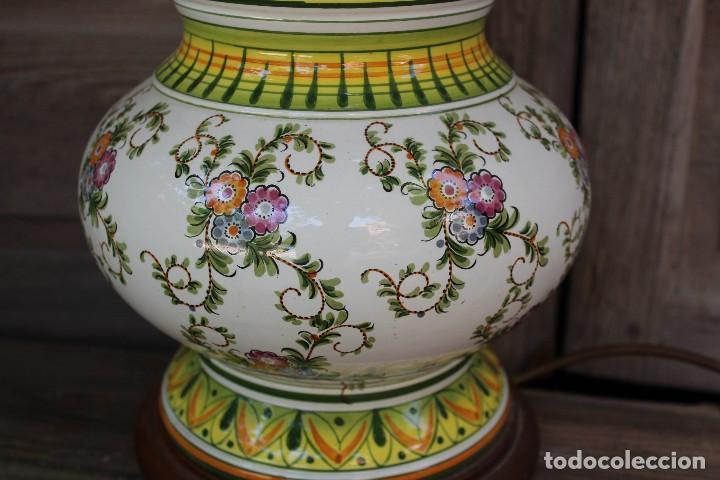 Antigüedades: MAGNIFICA LAMPARA DE SOBREMESA DE CERAMICA PINTADA A MANO IDEAL DECORACION sHABBY CHIC ITALIANA ? - Foto 2 - 122177019