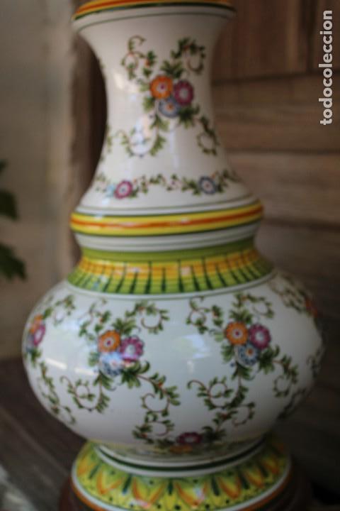 Antigüedades: MAGNIFICA LAMPARA DE SOBREMESA DE CERAMICA PINTADA A MANO IDEAL DECORACION sHABBY CHIC ITALIANA ? - Foto 5 - 122177019